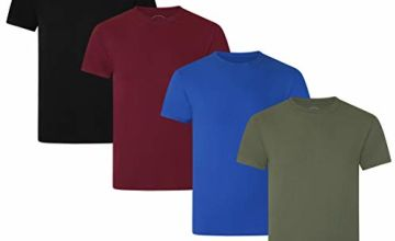 Save on FM London Men's Organic T-Shirt, Multicolour (Dark Assorted 10), Large (Size:Large) (Pack of 4) and more
