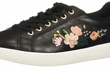 flexi KINOA Women's Floral Sneaker Genuine Leather Casual La