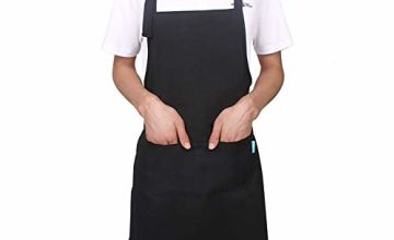 Chef Aprons for Men and Women Esafio Canvas Work Apron with 2 Large Pockets,Adjustable Bid for Kichen,Baking,Craft,BBQ Apron for Adult