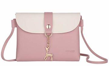Small Cross Body Bag for Girls PU Leather Shoulder Handbag Cross Body Purse for Teens Girls
