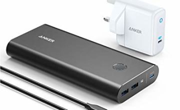 Anker Power Bank, PowerCore+ 26800 PD 45W with 60W PD Charger, Power Delivery Portable Charger Bundle for USB C Laptops, MacBook Air/Pro/Dell XPS/iPad Pro 2018, iPhone 11 Pro, XS Max, X, 8, and More