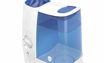 Vicks Warm Mist Humidifier for Home use and Child's Nursery,  Blue/White VH845E1