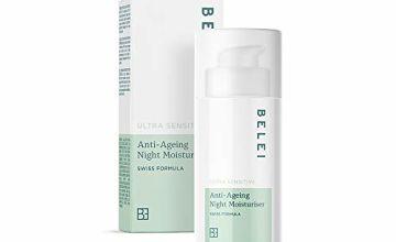 Amazon Brand - Belei - Ultra Sensitive Anti-Ageing Night Moisturiser, 50 ml