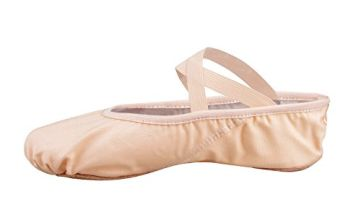 """Bezioner-Shop Ballet Slippers Canvas Dance Split Shoes(Black and Light Pink) We Recommend You to Choose One(1) Size Larger Than Your Normal Shoe Size (Black, Adults EU35/UK2.5=8.86"""")"""