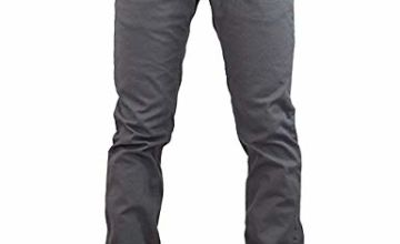 """Jack South Men's Flat Front Cotton Regular Fit Stretch Chino Trousers from 32""""-40"""""""