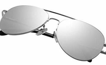 PUKCLAR Pilot Sunglasses Mens Polarised Sunglasses Womens Mirrored Lens