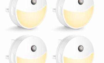 4 X Techgomade 0.4W Light Sensor Cabinet Light, 2700K Warm W
