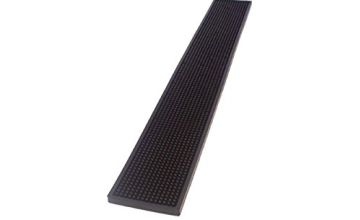 The bars Bar Mat, Black Rubber, 70 x 10 x 1 cm