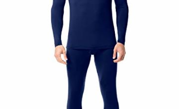 LAPASA Men's Thermal Underwear Set Thermal Underwear Men Thermals Men Long Sleeve Top & Bottom Long Johns for Men Thermal M11,M53,M57,M60