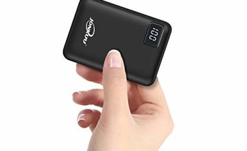 Small Portable Phone Charger 10000mAh Quick Charge 2.4 A Power Bank External Battery Packs Dual Ports with LCD Display Powerpack Compatible for iPhone Huawei iPad Samsung Nintendo Switch and Tablets