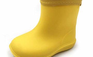 AMOJI Kid Rain Boots Chelsea Rubber Waterproof Boots YX18