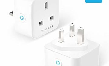 Smart Plug TECKIN 13A WiFi Socket Compatible with Alexa Echo Google Home, Timing Function Remote Control No Hub Required 2 Pack