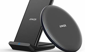Anker Wireless Chargers Bundle, PowerWave Pad & Stand 10W, Qi-Certified Compatible iPhone Xs Max XR XS X 8/8 Plus, 10W for Samsung Galaxy S10 S9 S8, Note 10 Note 9 and More (AC Adapter Not Included)
