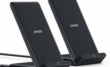 Anker® PowerWave charging stand, Twin Pack, Wireless 7.5W Charger for iPhone 11, 11 Max, Xs Max, XR, XS, X8, 8Plus, 10W Fast Charger for Galaxy S10, S9, S8, Note 10 - power supply not included
