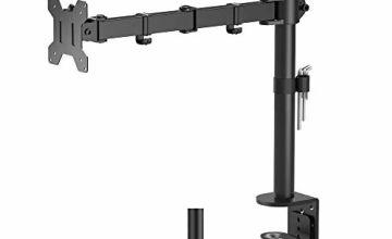 "BONTEC Single Arm Desk Mount Ergonomic LCD LED Computer Monitor Bracket Stand Tilt Swivel Rotation 13""-32"" Screen TV   VESA Dimensions: 75x75-100x100"