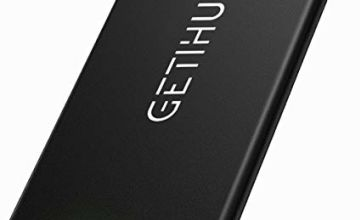 GETIHU Portable Charger, Ultra Slim 10000 mAh Power Bank, 2.1A High-Speed 2 USB Ports Battery Pack with LED Flashlight, Compatible with Samsung Motorola Huawei iPhone iPad Tablet etc. (Silver)
