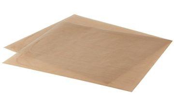 LEVIVO Reusable Baking Paper, Each Approx. 42 x 36 cm, Silicone, Brown, 36 x 42 x 0.1 cm