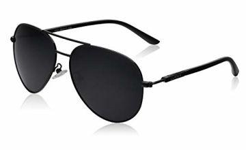 Mens Sunglasses Polarized UV 400 Protection Fashion Style by LUENX 60MM