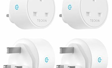 Smart Plug WiFi Outlet TECKIN Mini Plug 13A Works with Amazon Alexa, Google Home and, Wireless Smart Socket Remote Control Timer Plug Switch, No Hub Required (4 Pack)