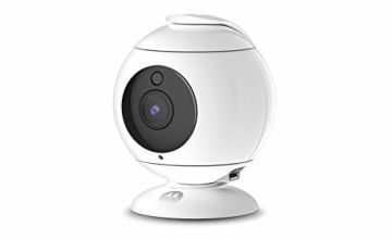 Motorola Focus 89 Full HD 1080p Wireless Indoor Camera with 360 Degree Pan & Privacy Mode and Wi-Fi Hubble Connected App for Smartphones or Tablets – White