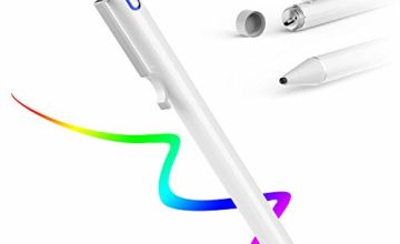 AWAVO Capacitive Stylus Pen for Touch Screens, Rechargeable Pen with Ultra-light(about 12.5g), 1.6mm Fine Plastic Nib, Power-saving Function, Compatible with Most Android/iOS Tablet Cell Phone