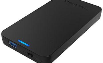 Sabrent 2.5-Inch SATA to USB 3.0 Tool-free External Hard Drive Enclosure [Optimized For SSD, Support UASP SATA III] Black (EC-UASP)