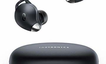 Wireless Earphones, TaoTronics True Wireless Earbuds Headphones, Smart AI Noise Reduction Bluetooth Headphones in-Ear(IPX7 Waterproof, 30H Playtime, USB-C Quick Chage, Single/Twin Mode, Built-in Mic)