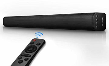 Mpow 29-Inch/40W SoundBar HDMI ARC for TV Home Theater,2.0 Channel Wired & Bluetooth 5.0 Speakers with 3D Stereo Surround AUX/HDMI/Optical/USB Connection with 4 Drivers,Remote Control,Wall Mountable