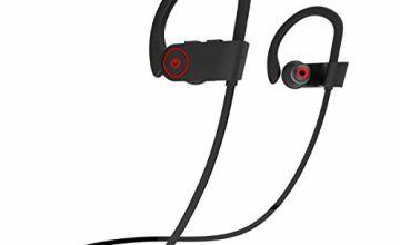 Proze Sport Wireless Bluetooth Earphones - with Mic 8H IPX7 In Ear with Ear Hook