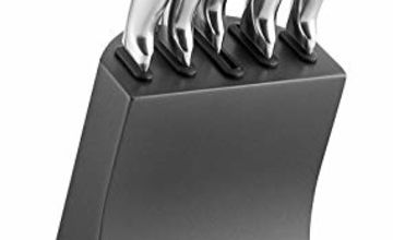 Save on Morphy Richards Accents Knife Block, Satin, Stainless Steel Finish, Titanium, 5 Piece and more