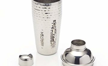 Save on BarCraft Luxury Stainless Steel Cocktail Shaker, 700 ml (1.25 pts) - Hammered Metal Finish and more