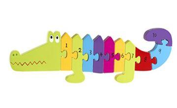 Orange Tree Toys Crocodile Number Puzzle, Multi Coloured