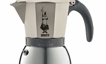 Bialetti Moka Induction Stovetop Coffee Maker (6 Cup) - Light Gold