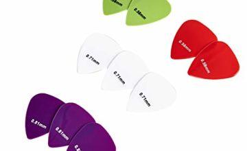 AmazonBasics Guitar Picks, Solid Colors, Nylon, 10-Pieces