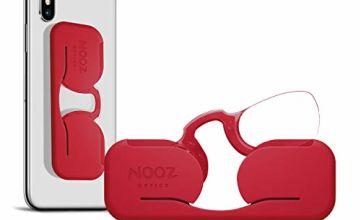 Nooz Smartphone - Armless Reading Glasses - Extra Slim Case to Stick - Rectangular 6 Colours 5 diopters - Wherever you go