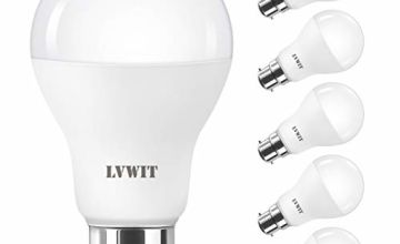 B22 LED Light Bulb, LVWIT Bayonet 8.5W / 14W / 18W A60 6500K Daylight White, Equal to 60W / 120W / 180W, Bright 806Lm / 1521Lm, Non-Dimmable