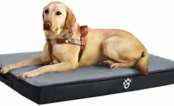 FRISTONE Large Dog Bed Memory Foam,Dog Crate Mattress With Removable Washable Cover