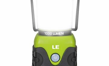 Le Camping Lantern, 1000 Lumen Dimmable LED Camping Light, 4 Modes Emergency Light, Water Resistant Tent Lights for Camping, Hiking, Fishing, Power Cuts, 3*D Battery Powered (Not Included)