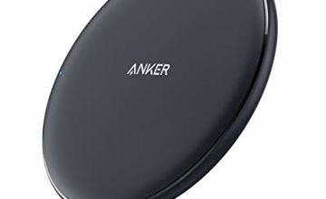 Anker Wireless Charger, PowerWave Pad, Compatible iPhone 11, 11 Pro, 11 Pro Max, Xs Max, XR, XS, X, 8, 8 Plus, 10W Fast-Charging Galaxy S20/S20+/S10/S9/S8, Note 10 Note 9 Note 8 (No AC Adapter)