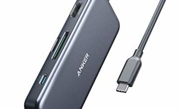 Anker [Upgraded] USB C Hub Adapter, 7-in-1 USB C Adapter, with 4K HDMI, Power Delivery, USB C Data Port, microSD and SD Card Reader, 2 USB 3.0 Ports, for MacBook Pro, Pixelbook, XPS