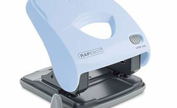 Save on Rapesco X5-40ps Less Effort 2 Hole Punch (40 Sheets) (Powder Blue) and more