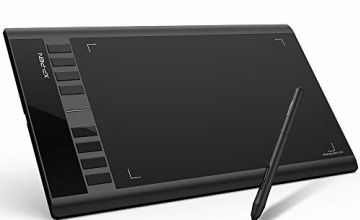 """XP-PEN Star03 Drawing Tablet 12 inch with 8 Hot Keys, Battery-free Graphic Tablet Pens 10x6"""" Work area for Art Design Support Windows 10/8/7 & Mac OS (Star03 Black)"""