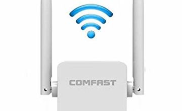COMFAST 300Mbps WiFi Repeater WiFi Extender Booster 2.4GHz Wireless Amplifier with Dual External Antennas, Access Point/Repeater/Router Mode, Ethernet Port, WPS (Updated Version)