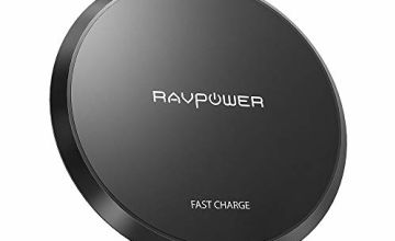 RAVPower Wireless Charger Upgraded Qi-Certified Wireless Charging Pad 10W Fast Charger for Galaxy S9/ S8/ S7, 5W Qi Charger for iPhone Xr XS Max with All Qi-Enabled Devices (No AC Adapter)