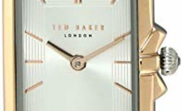 Ladies Womens Two Tone Ted Baker Quartz Battery Watch on Blue Leather Strap, Tess. TE50271002