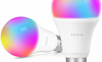 Smart Light Bulb LED WiFi Lamp E27 Multicolor Works with Phone, Google Home and IFTTT, No Hub Required, TECKIN A19 60W Equivalent RGB Bulb (7.5W), with Schedule Function, 2 Pack