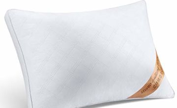 Tiantu Cotton Pillow Deep Sleep Pillow Adjustable Height Breathable Super Soft Hotel Quality Pillows 24 x17 Inch White