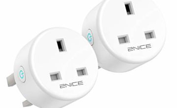 Smart Plug WiFi Outlet, 2NICE Wireless Timer Plug Works with Alexa,Google Home, Remote Control Voice Control Smart Socket Switch with Energy Monitoring,No Hub Required,13A (2 Pack)