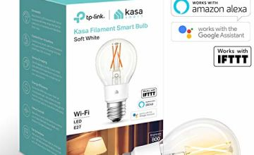Save on Kasa Smart Bulb by TP-Link, WiFi Filament Light Bulb, E27, 7W, Works with Amazon Alexa (Echo and Echo Dot) and Google Home, Dimmable Soft Warm White, No Hub Required (KL50) [Energy Class A++] and more
