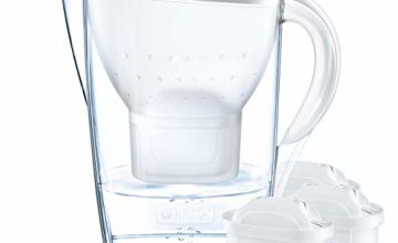 BRITA Marella water filter jug starter pack,   includes 3 MAXTRA+ ,  White -Fridge fit